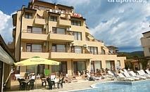 Цяло лято в Слънчев бряг - на 100м. от плажа! Нощувка със закуска, обяд и вечеря + басейн в хотел Теди