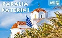Почивка в Паралия Катерини, Гърция! 5 нощувки със закуски и вечери в хотел 3*, транспорт и водач