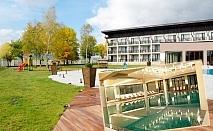 Делник в Белчин Баня! 3 или 5 нощувки, закуски и вечери за ДВАМА + закрит басейн с минерална вода и СПА пакет от хотел Белчин Гардън****