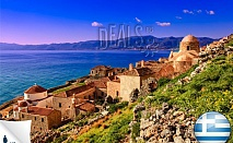 8 дни море, п-ов Пелопонес, Гърция: 6 нощ,закуски,вечери, бонуси,от 365лв/човек. Сега 50лв