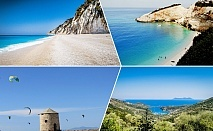 Късно лято на остров Лефкада, Гърция! 3 нощувки на човек със закуски  и вечери*  + транспорт от ТА Далла Турс