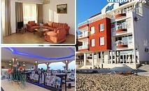 До края на май на брега на морето във Варна! Нощувка за двама, трима или четирима в семеен хотел Ной, к.к. Чайка, плаж Кабакум