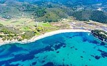 Лято край Торони, Гърция на 150м. от плажа! Нощувка на човек със закуска и вечеря + басейн от хотел Azapiko Blue Sea