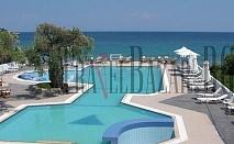 Maranton Beach Hotel 4*, о-в Тасос, Кинира. Нощувка със закуска или и вечеря. Малък хотел сред зеленина, на брега на морето. Просторни, комфортни стаи, апартаменти и суити, интернет, ресторант...