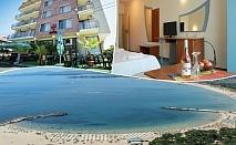 Море 2020! Нощувка на човек със закуска, обяд и вечеря + басейн в семеен хотел М2, Приморско