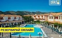 Нощувка на човек на база Закуска, Закуска и вечеря в Ecoresort Zefyros Hotel 2*, Агиос Кирикос, о. Закинтос, безплатно за деца до 2.99 г.