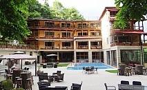 Нощувка на човек със закуска и вечеря + басейн в хотел Света Неделя, с. Коларово край Петрич