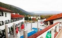 Нощувка на човек със закуска и вечеря + басейн само за 29.90 лв. в хотел Виктория, Брацигово