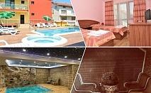 Нощувка на човек със закуска и вечеря + топъл басейн и релакс зона от хотел Жаки, Кранево