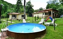 Нощувка в самостоятелна къщa + басейн в комплекс Валдис, местност Жабокрек, Рила планина