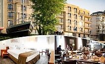 Нощувка със закуска на човек в двойна стая с изглед МОРЕ в хотел Панорама****, Варна