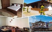 Нощувка със закуска за 4-ма в самостоятелна къщичка + ползване на джакузи, сауна и парна баня в Spa Mentor Resort до Гоце Делчев