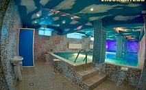 Нощувка със закуска и вечеря + ползване на 2 закрити топли минерални басейна с джакузи, открит целогодишен минерален басейн, външно джакузи + СПА зона от хотел Аура