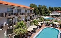 3 нощувки на човек във фамилна стая, със закуски и вечери в Simeon Hotel 3*,  Метаморфози, Ситония, Халкидики! Само на 70 м. от плажа + 2 басейна! Дете до 12 г. БЕЗПЛАТНО!