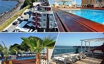 На ПЪРВА линия в Китен! 5 нощувки на човек със закуски, обеди и вечери + басейн в хотел Съндей