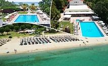 На първа линия в Пиерия! 3+ нощувки със закуски и вечери на човек + басейн в Sun Beach Platamon Resort, Олимпийска Ривиера. Дете до 11.99г. БЕЗПЛАТНО