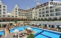 Почивка в Анталия, Турция! 7 нощувки на база All Inclusive в хотел Side Crown Serenity 5* + самолетен билет, летищни такси, багаж и трансфери, от Солвекс