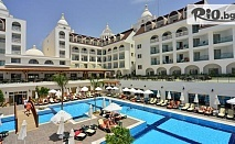 Почивка в Анталия, Турция през Май и Юни! 7 нощувки на база All Inclusive в хотел Side Crown Serenity 5* + самолетен билет, летищни такси, багаж и трансфери, от Солвекс
