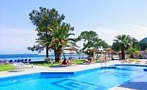 От 04.06 до 10.07  на самия плаж в Скала-Рахониу, о. Тасос! Нощувка със закуска и вечеря + частен плаж и басейн от хотел Rachoni Bay Resort