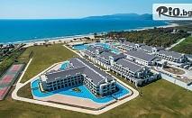 Септемврийско лято в Кушадась на първа линия на плажа! 7 Ultra All Inclusive нощувки в хотел Korumar Ephesus Resort + собствен плаж, басейн, чадър, шезлонг и СПА, от Мисис Травъл