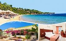 СПА и релакс на 30м. от плажа в Агия Параскеви, Халкидики! Нощувка със закуска и вечеря + сауна и хамам в хотел Loutra Beach Hotel*** в Гърция като 2 деца до 14г. - БЕЗПЛАТНО