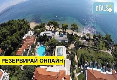 Нощувка на човек на база Закуска, Закуска и вечеря в Danai Beach Resort & Villas 5*, Никити, Халкидики