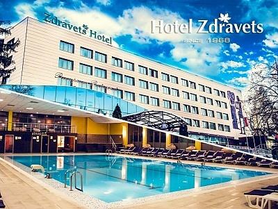 Нощувка на човек със закуска и вечеря + басейн и релакс пакет в хотел Здравец Уелнес и СПА****, Велинград