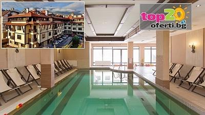 Нощувка със закуска и вечеря + Напитки или All Inclusive Light + Външен и Вътрешен басейн и СПА в хотел Мария Антоанета Резиденс 4*, Банско, от 39 лв. на човек