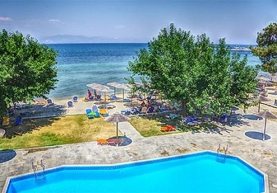 от 26.08-10.10 на о.Тасос - Нощувка в двойна стандартна стая на база All Inclusive + басейн в хотел Sunrise Beach***