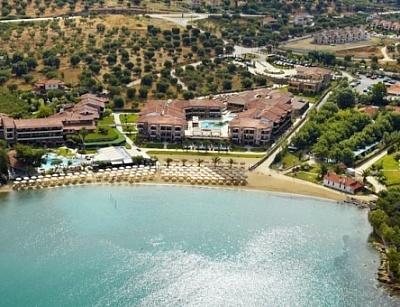 Почивка в Хотел Anthemus Sea Beach ***** на първа линия! Нощувка със закуска и вечеря + ползване на външен басейн!